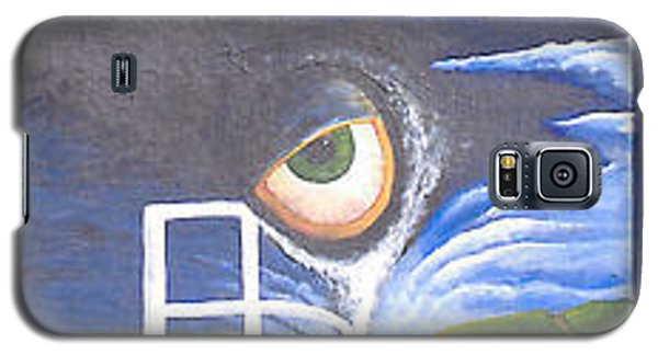 Galaxy S5 Case featuring the painting Eyefence by Steve  Hester