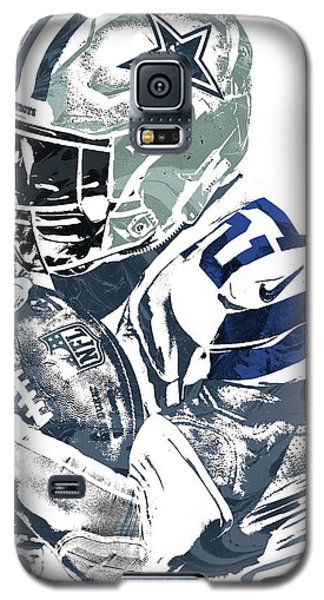 Galaxy S5 Case featuring the mixed media Ezekiel Elliott Dallas Cowboys Pixel Art 5 by Joe Hamilton