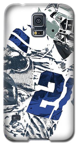 Galaxy S5 Case featuring the mixed media Ezekiel Elliott Dallas Cowboys Pixel Art 6 by Joe Hamilton