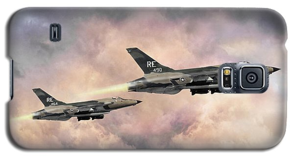 Galaxy S5 Case featuring the digital art F-105 Thunderchief by Peter Chilelli