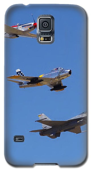 F-16 P-51d F-86 Heritage Flight- Flyby Galaxy S5 Case