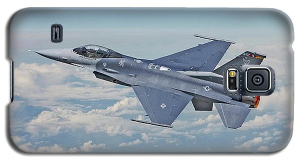 Galaxy S5 Case featuring the digital art F16 - Fighting Falcon by Pat Speirs
