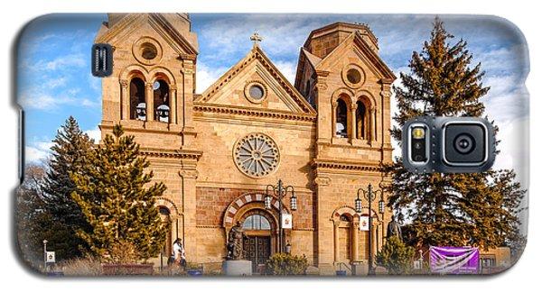 Sangre De Cristo Galaxy S5 Case - Facade Of Cathedral Basilica Of Saint Francis Of Assisi - Santa Fe New Mexico by Silvio Ligutti
