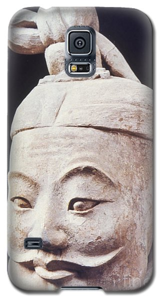 Galaxy S5 Case featuring the photograph Face Of A Terracotta Warrior by Heiko Koehrer-Wagner