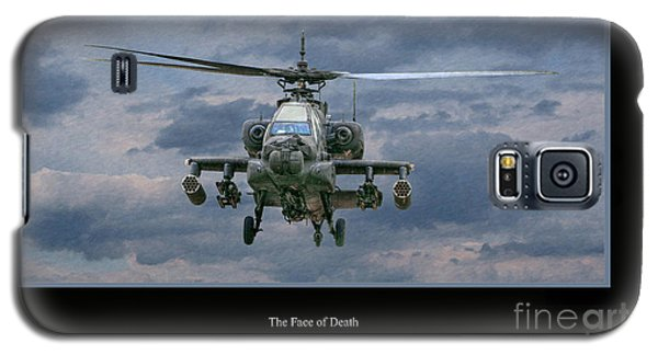 Face Of Death Ah-64 Apache Helicopter Galaxy S5 Case by Randy Steele
