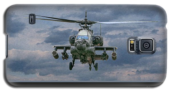 Helicopter Galaxy S5 Case - Face Of Death Ah-64 Apache Helicopter by Randy Steele