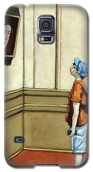 Face To Face - Boy Viewing Art Galaxy S5 Case