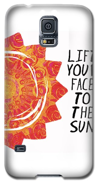 Galaxy S5 Case featuring the painting Face To The Sun by Lisa Weedn