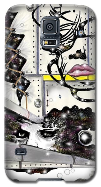 Galaxy S5 Case featuring the digital art Faces In Space by Darren Cannell
