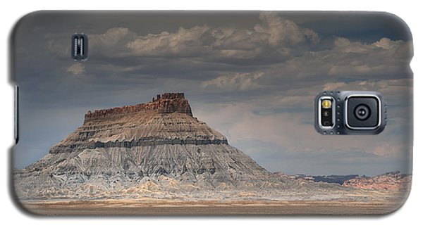 Galaxy S5 Case featuring the photograph Factory Butte by Dan Mihai