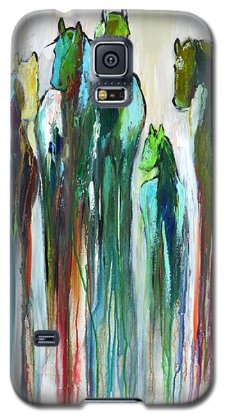 Galaxy S5 Case featuring the painting Fading Souls by Cher Devereaux