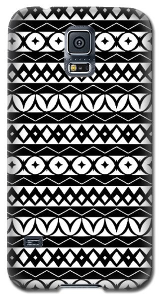 Fair Isle Black And White Galaxy S5 Case by Rachel Follett