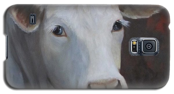 Fair Lady Cow Painting Galaxy S5 Case by Cheri Wollenberg