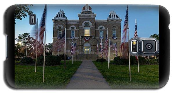 Fairbury Nebraska Avenue Of Flags - September 11 2016 Galaxy S5 Case