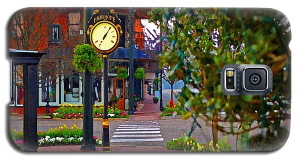 Fairhope Ave With Clock Down Section Street Galaxy S5 Case