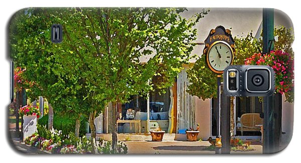 Fairhope Ave With Clock Looking North Up Section Street Galaxy S5 Case