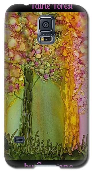 Galaxy S5 Case featuring the painting Fairie Forest by Suzanne Canner