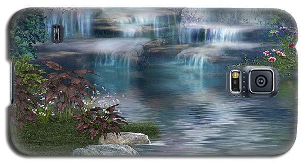 Galaxy S5 Case featuring the digital art Fairies Hidden Lake by Digital Art Cafe