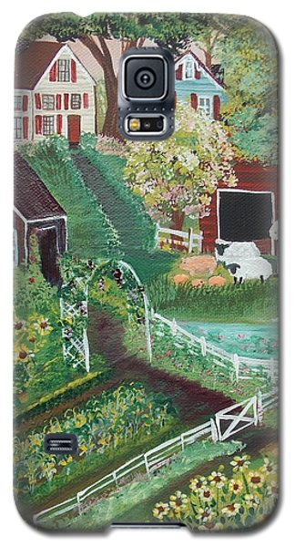 Galaxy S5 Case featuring the painting Fairview Farm by Virginia Coyle