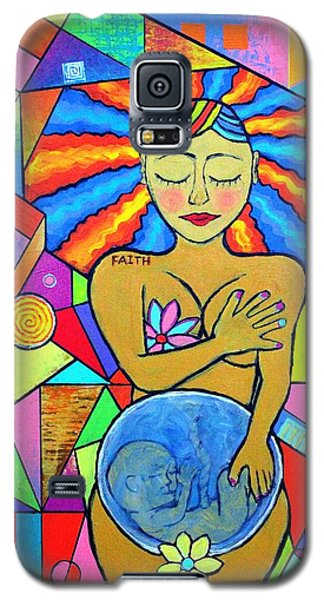 Faith, She Carries The World On Her Hips Galaxy S5 Case by Jeremy Aiyadurai