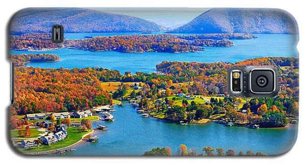 Fall Aerial Smith Mountain Lake Galaxy S5 Case