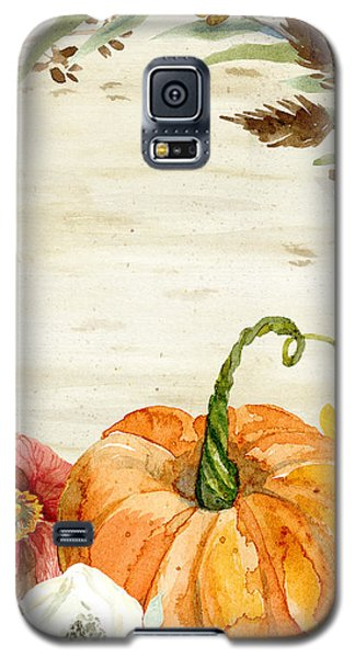 Fall Autumn Harvest Wreath On Birch Bark Watercolor Galaxy S5 Case