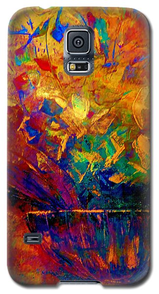 Galaxy S5 Case featuring the painting Fall Bouquet  by Lisa Kaiser