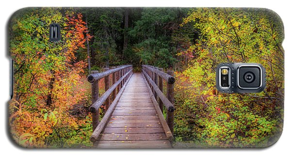 Galaxy S5 Case featuring the photograph Fall Bridge by Cat Connor