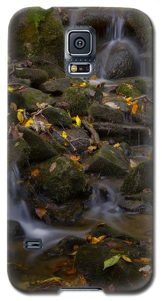 Galaxy S5 Case featuring the photograph Fall Cascades by Ellen Heaverlo