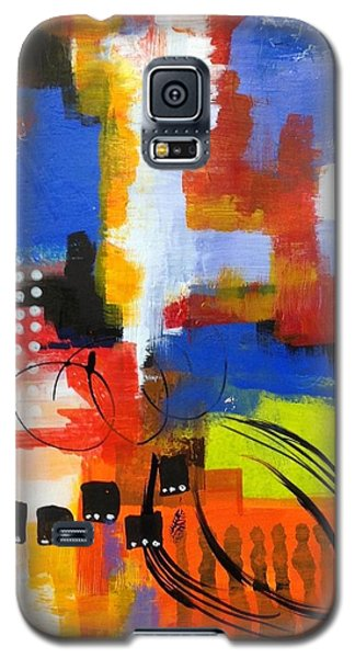 Galaxy S5 Case featuring the painting Day One...30 In 30 Challenge  by Suzzanna Frank