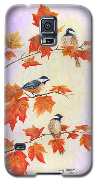Fall Chickadees Galaxy S5 Case by Judy Filarecki
