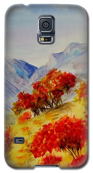 Galaxy S5 Case featuring the painting Fall Color by Jamie Frier