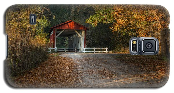 Galaxy S5 Case featuring the photograph Fall Covered Bridge by Dale Kincaid
