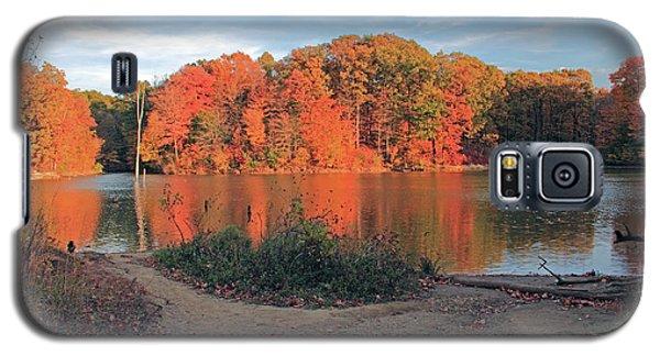Fall Day At The Creek Galaxy S5 Case by Angela Murdocks