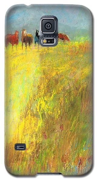 Galaxy S5 Case featuring the painting Fall Day On The Mesa by Frances Marino