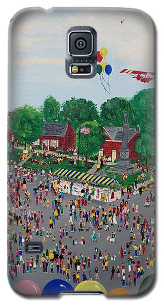 Galaxy S5 Case featuring the painting Fall Fair by Virginia Coyle