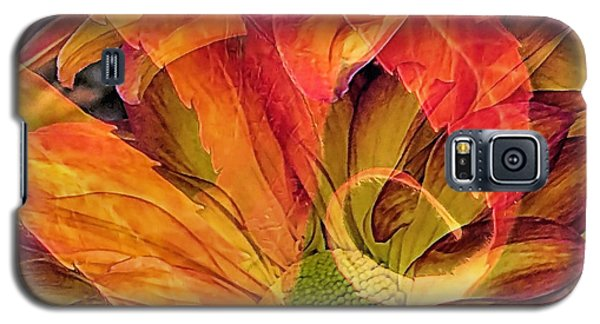 Galaxy S5 Case featuring the photograph Fall Floral Composite by Janice Drew