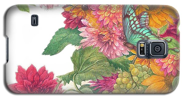 Fall Florals With Illustrated Butterfly Galaxy S5 Case