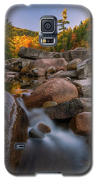 Galaxy S5 Case featuring the photograph Fall Foliage In New Hampshire Swift River by Ranjay Mitra