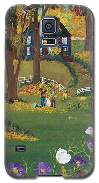 Galaxy S5 Case featuring the painting Fall Foliage by Virginia Coyle