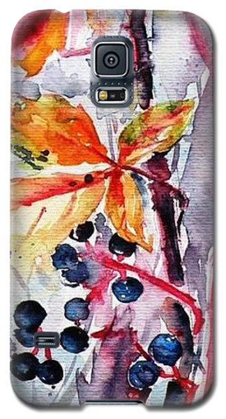 Galaxy S5 Case featuring the painting Fall II by Kovacs Anna Brigitta