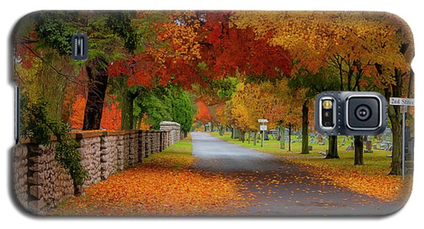 Fall In The Cemetery Galaxy S5 Case