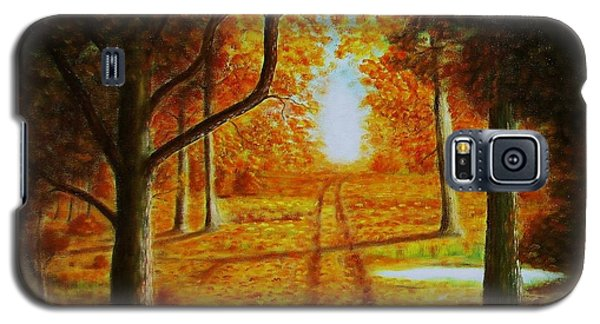Galaxy S5 Case featuring the painting Fall In The Woods by Gene Gregory