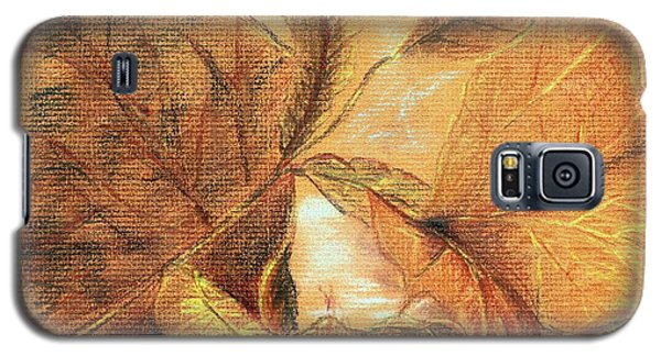Galaxy S5 Case featuring the pastel Fall Leaves by Vonda Lawson-Rosa