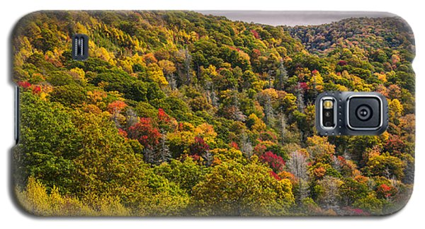 Galaxy S5 Case featuring the photograph Fall Mountain Side by Tyson Smith