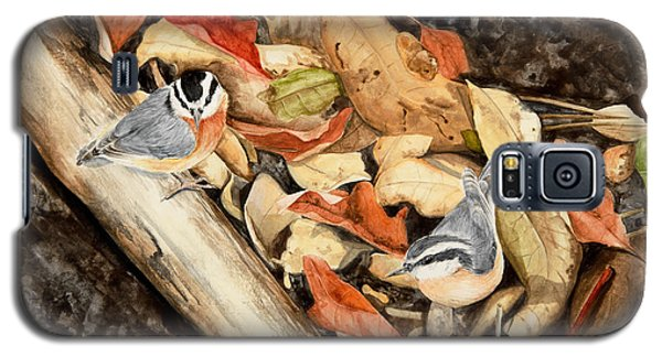 Fall Nuthatch Pair Galaxy S5 Case