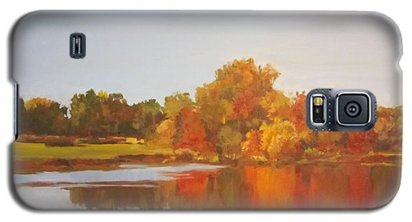 Galaxy S5 Case featuring the painting Fall Perfection by Elizabeth Carr