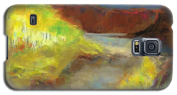 Galaxy S5 Case featuring the painting Fall Ponds by Frances Marino