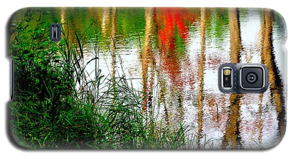 Galaxy S5 Case featuring the photograph Fall Reflections by Elfriede Fulda