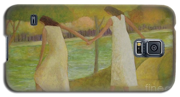 Galaxy S5 Case featuring the painting Fall River by Glenn Quist